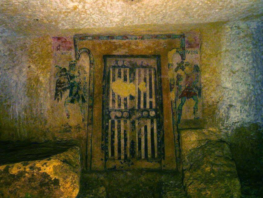 Tarkwinia, IV w. p.n.e. - drzwi prowadzące w zaświaty