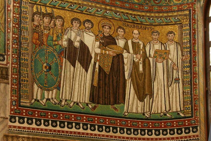 Bazylika San Vitale Cesarz Justynian by Edisonblus CC 3.0 Wikimedia Commons