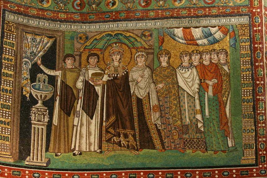 Bazylika San Vitale Cesarzowa Teodora by Edisonblus CC 3.0 Wikimedia Commons