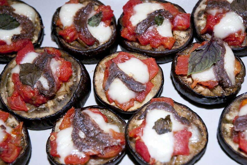 mini pizze z bakłażana