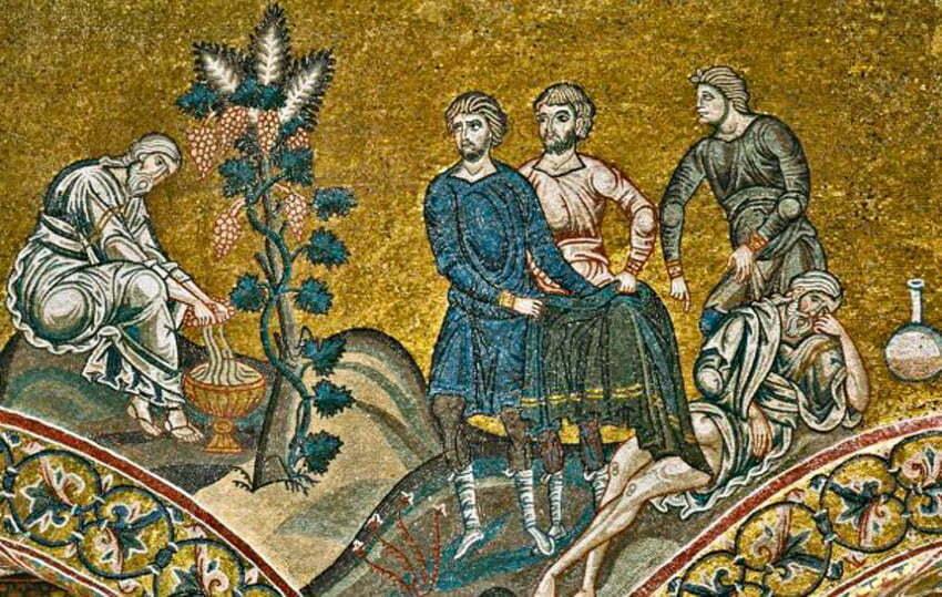 Noe wytwarzający wino - mozaika z katedry w Monreale