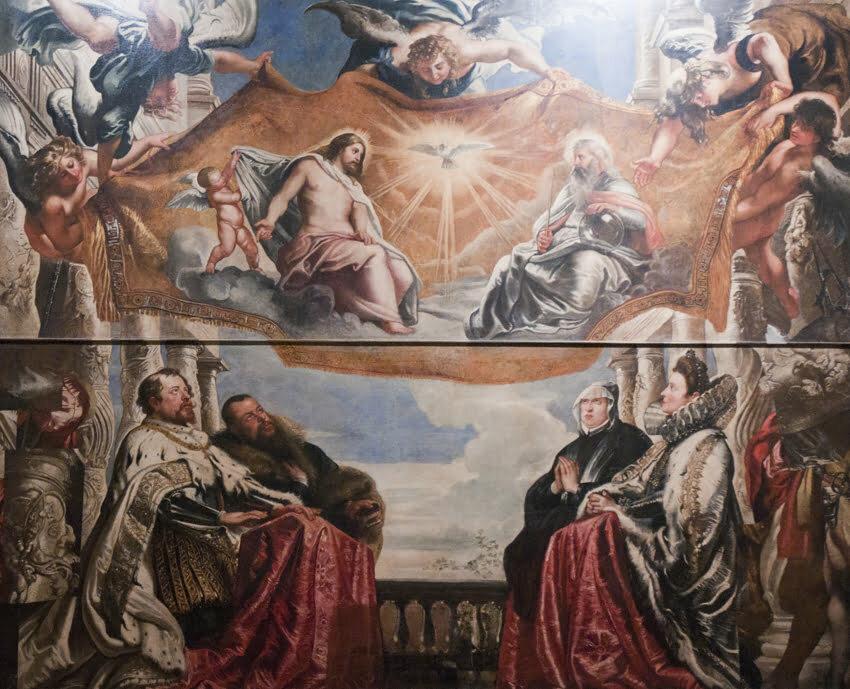 """P. p. Rubens """"Famiglia Gonzaga in adorazione di Santa Trinità"""""""