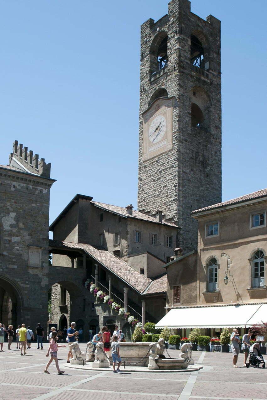 Campanone e Palazzo della Ragione Bergamo