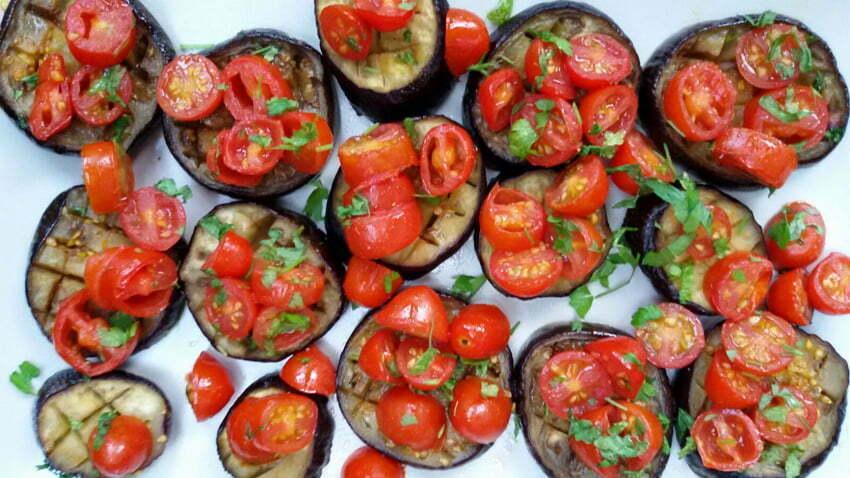 bakłażany w pomidorach