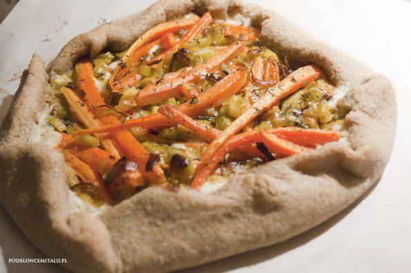 quiche z marchewką i gorgonzolą