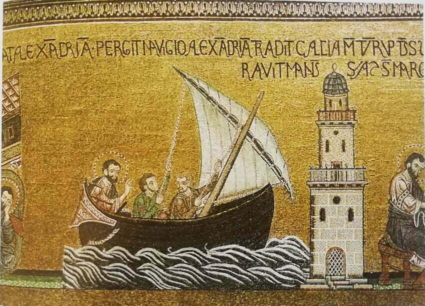 latarnia morska w Aleksandrii i sprowadzenie relikwi św. Marka do Wenecji