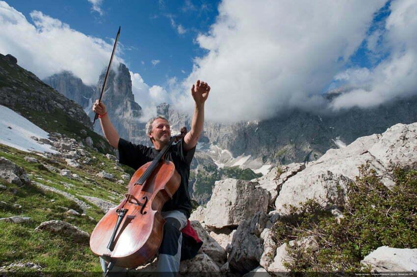 Val Rendena - Brenta Dolomites - July 8-11, 2009 - Musical Trekking - Mario Brunello, Cesare Maestri, author: Daniele Lira