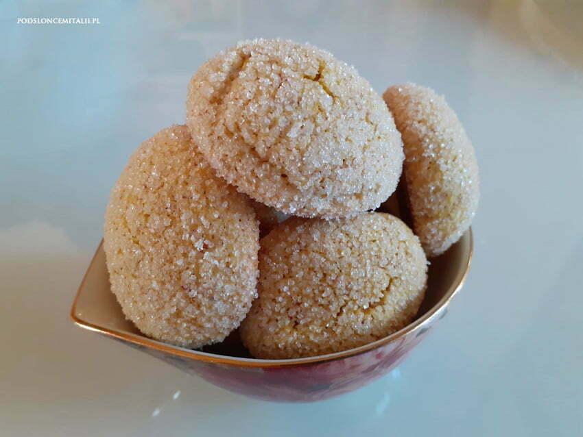 Bezglutenowe ciasteczka z mąki kukurydzianej z cytryną